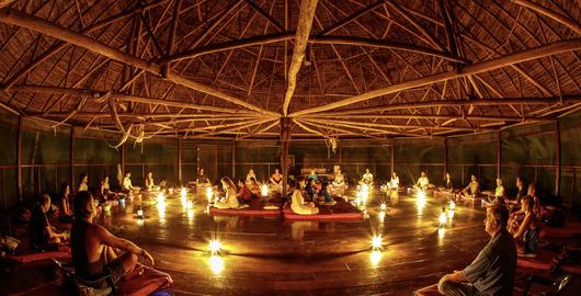 set en setting tijdens ayahuasca ceremonie